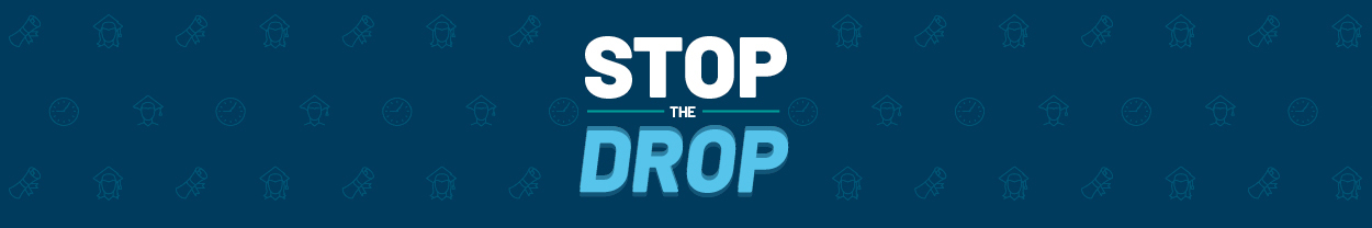Stop the Drop banner